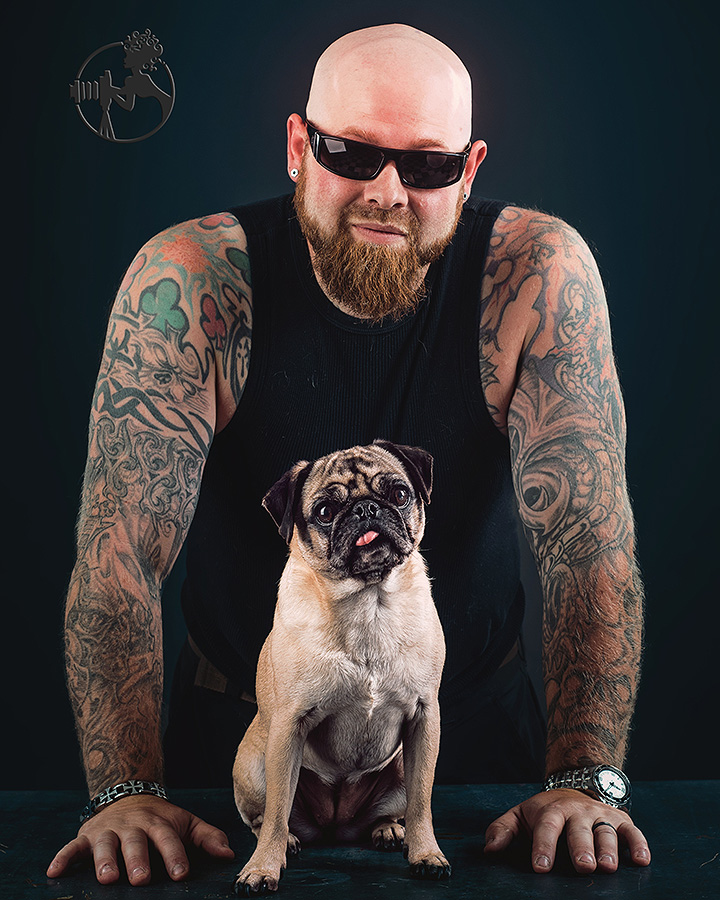 Dad and his Pug.