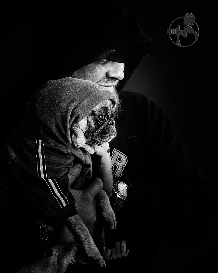 Thug life for Alan and his Pug.