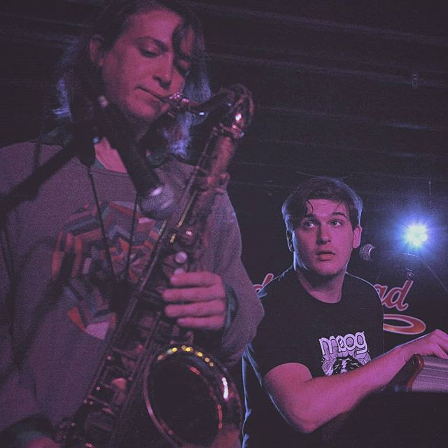Some fun shots from @thunderroadclub !  Thanks again to @netatree for joining us! . 📸- @inesvelascomusic . . . One more week to vote for Boston Music Awards! . . . . . . . . . . . . #livemusic #porterfield #jazz #indie #band #moog #gibson #boston #bostonmusicawards #saxophone #drums #interplay