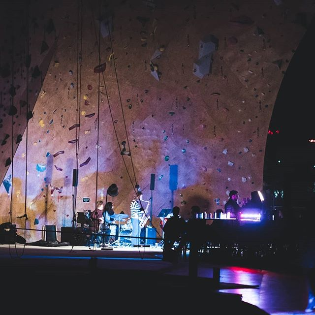 Some excellent shots from our @brooklynboulders show!  What an incredible space and warm crowd.  Thank you for having us.  Got a surprise gig in Dover NH this friday with @jp_goldman holding it down on @moogsynthesizers and @raphaellehnen back on the drums.  Thanks @allthingsharmony for the great photos! . . . . . . . . . . . . . . . #bouldering #rockclimbing #boston #bostonlivemusic #band #porterfield #trio #jazz #fusion #rock #saxophone #chickdrummer #womeninmusic