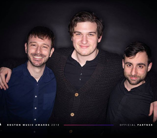 Taken at the #bostonmusicawards !  We didnt win but we had a damn good year.  Thanks all, we will be back in 2019 Xx Jacob, JP, and Rafael