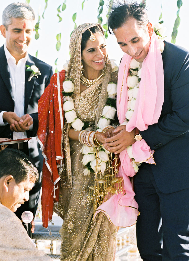 REAL WEDDING: CARATS & CAKE  - Rashi & Manoj wanted a wedding that honored not only their Indian heritage but also their fun-loving Californian spirit...MORE ›