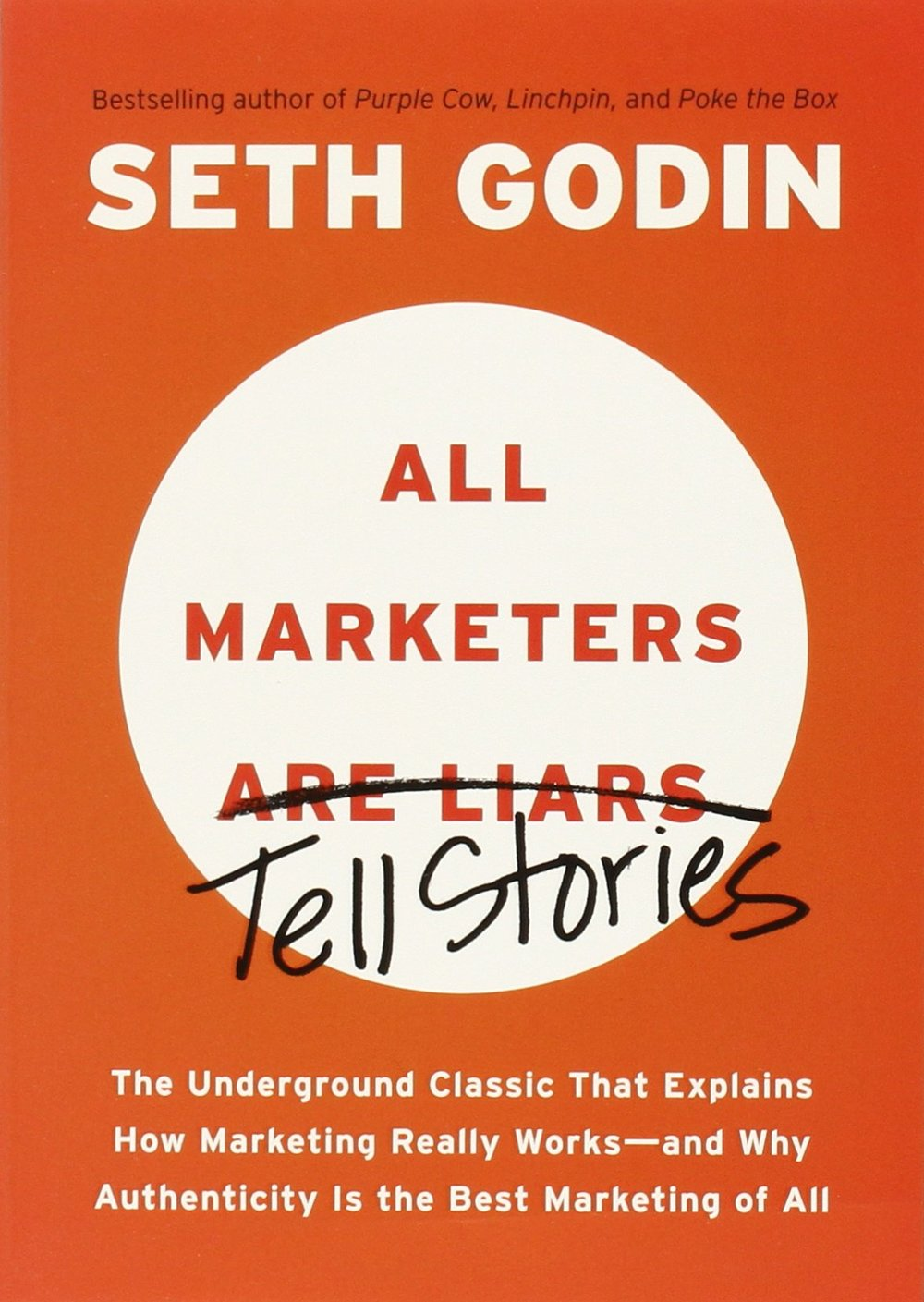 All Marketers Are Liars by Seth Godin - Great marketers tell a story. Will you market yourself a certain way? The key here is to be 'authentic' rather than honest! Come on, we know the major successful companies today lie and lie in their ads, yet they still make millions!