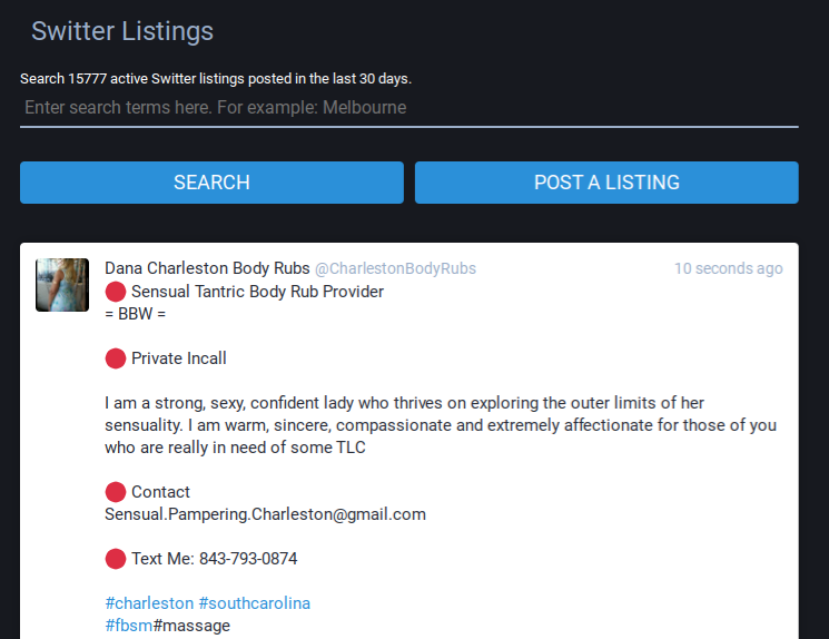 Switter's neverending realm of provider listings