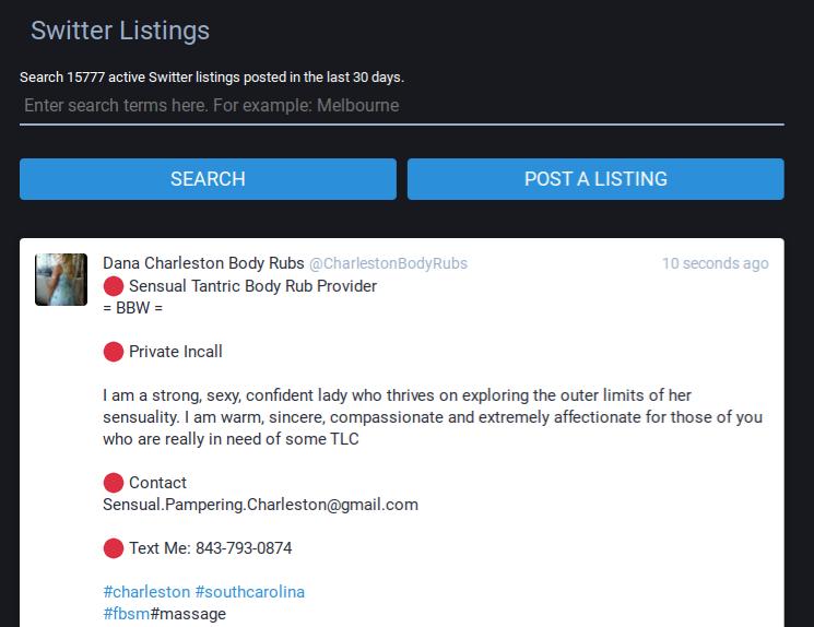 Switter's neverending realm of provider listings