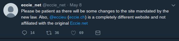 Original ECCIE announcing no affiliation with pseudo-eccie