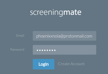 ScreeningMate Login