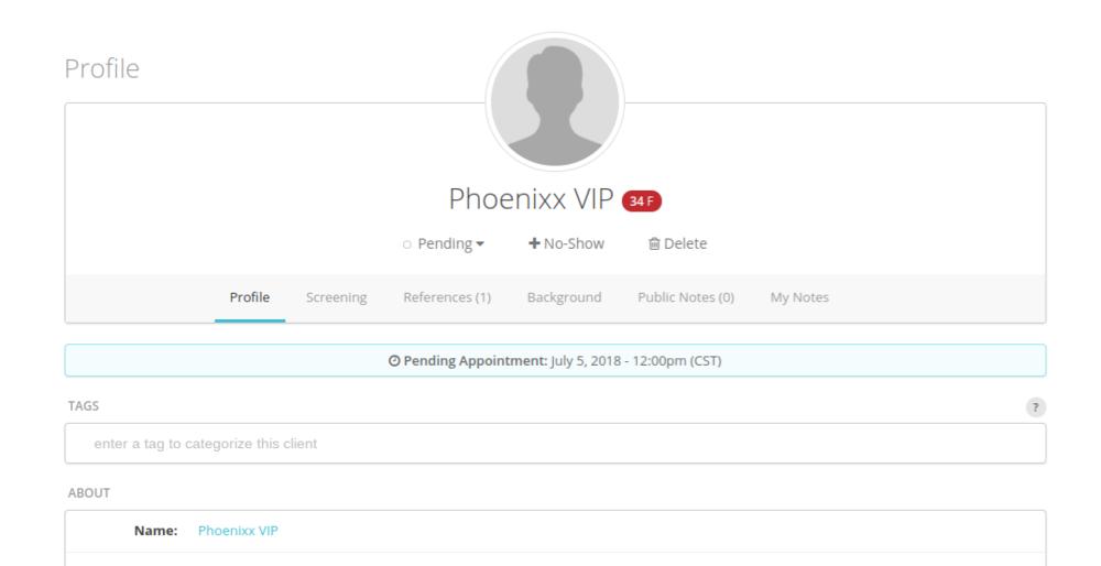 Karma Screen Client Profile