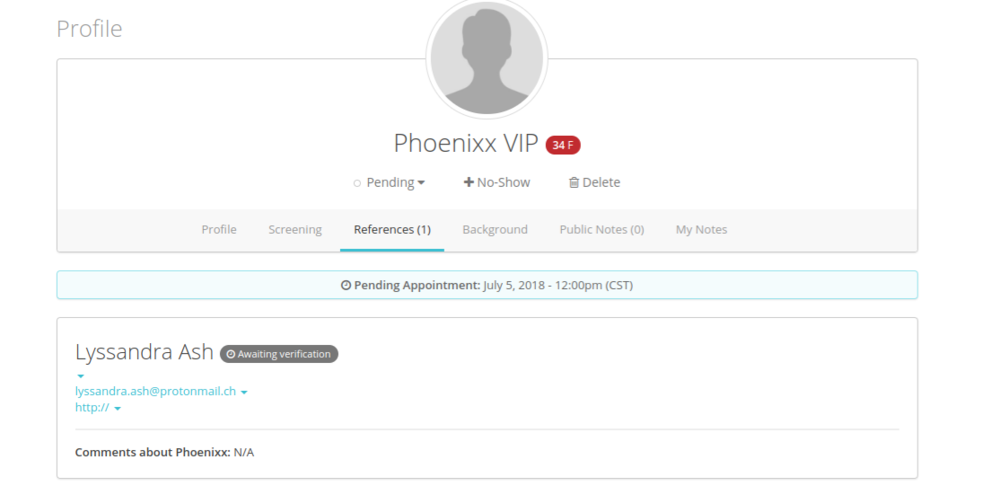 Client References via Karma Screen