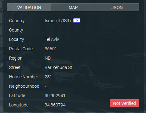KittyAds Tel Aviv bogus address is  not verified!