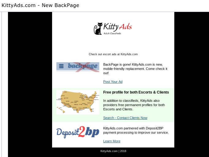 Yes, Backpage is gone indeed. So, let the king rest in peace!