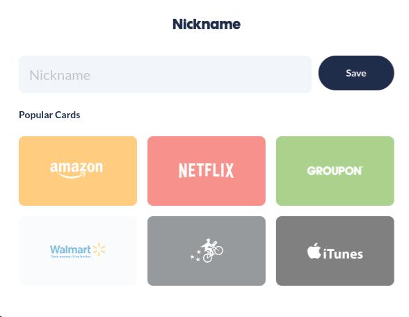 2. Nickname Your Card