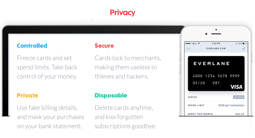 The main benefits of Privacy for online shopping. Image courtesy of    Chesbro on Security.
