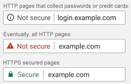 Google's SSL Warnings. Image courtesy of    Brave River Solutions.