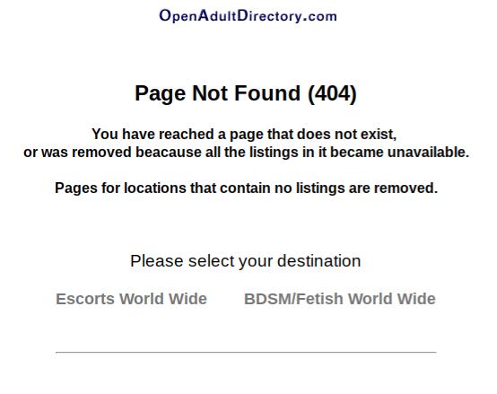 Open Adult Directory Deletes USA Escorts
