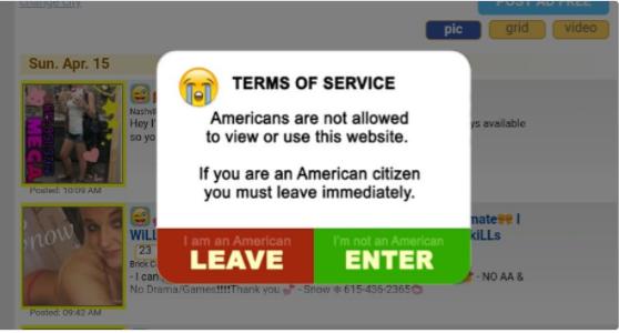 Listcrawler's Message for USA Visitors