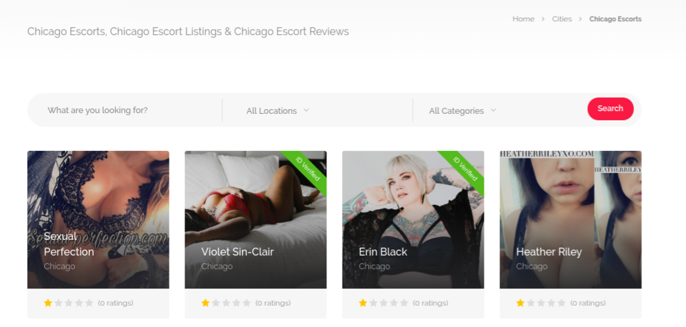 GFEDating Chicago escorts. Notice the  ID Verified  detail!