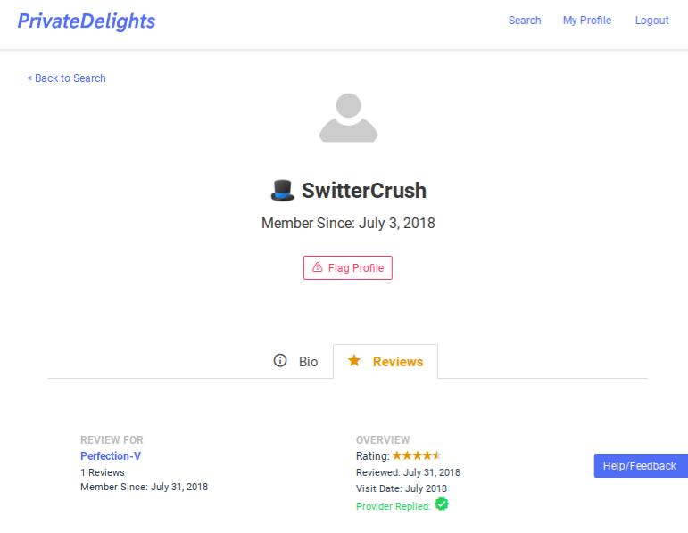 PrivateDelights Client Profile