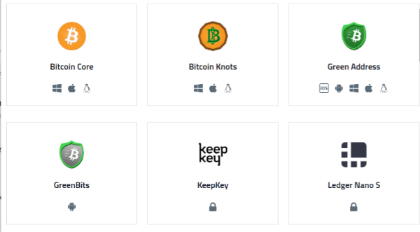 Image courtesy of     Bitcoin.org - Choose Your Wallet