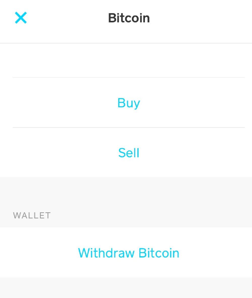 10. Withdraw Bitcoin
