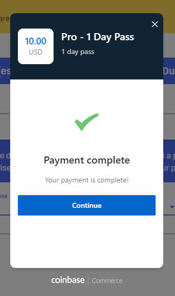 15. Complete the Bitcoin Payment