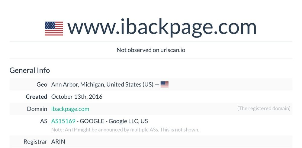 iBackpage USA IP