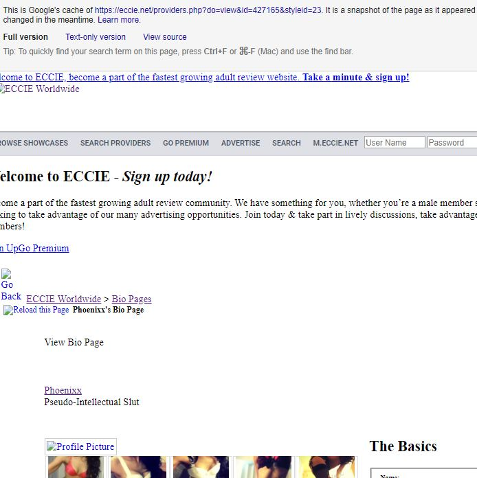 My ECCIE Bio Page cached.