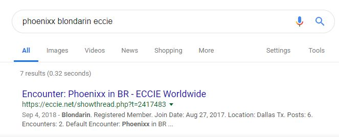 Google your name, your client's reviewing handle & ECCIE.