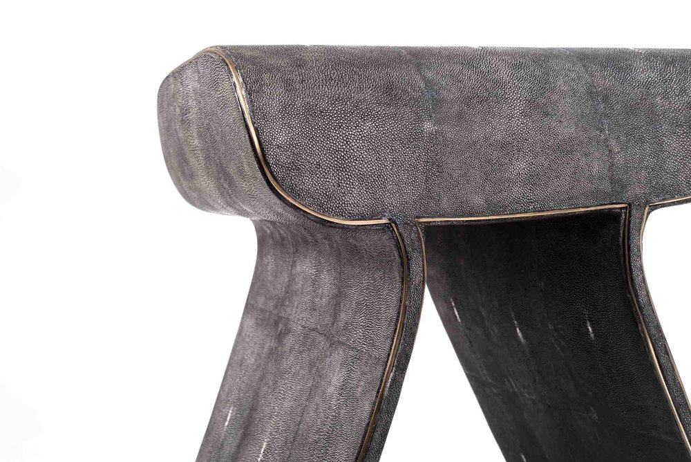 Dandy Stool RY AUGOUSTI KIFU PARIS Patrick Coard SHAGREEN FURNITURE