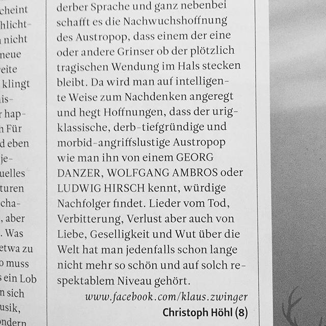 #albumreview im aktuellen @slamalternativemusicmagazine - vielen vielen dank für die lieben worte! :) . . . . . #musik #review  #8/10 #album #austropop #ambros #danzer #hirsch #music #mundart #dialekt #wien #vienna #österreich #slam