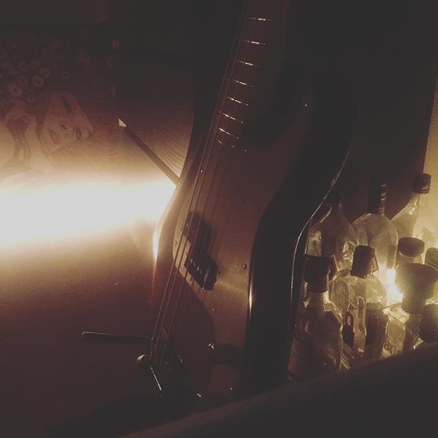 ...guess that sums it up quite nicely. . . . #shitweather #klimt #bass #pbass #fender #whisky #atmosphere