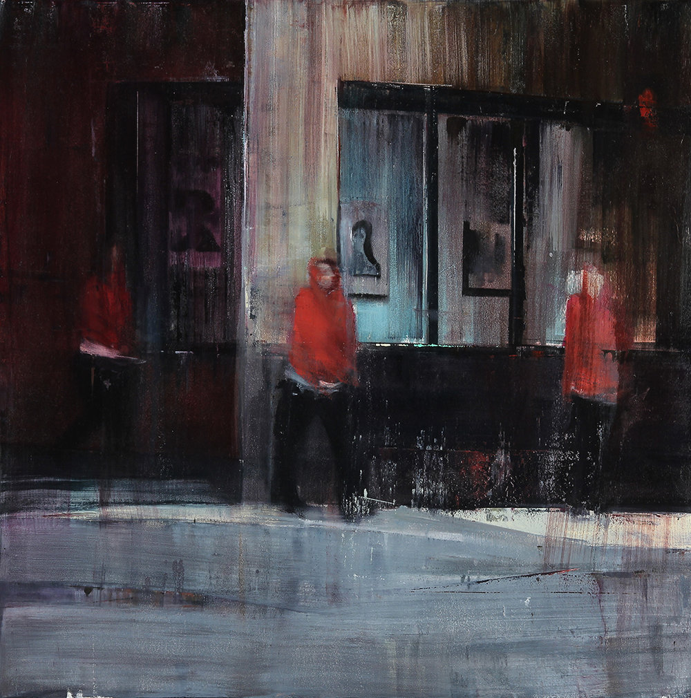 Eddy and Jones 4-5am  oil on canvas    30x30 inches   2012