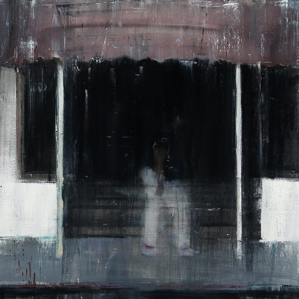 The Fillmore 4-5pm  oil on wood     30x30 inches   2012