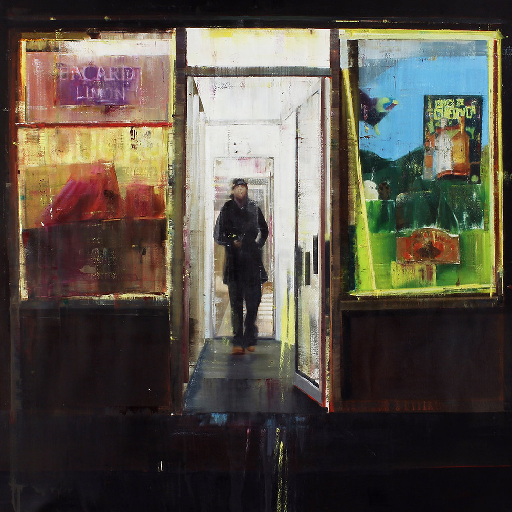Boston & 174th st. Bronx 12-1am (Waiting#181)  oil on canvas   60x60 inches    2013