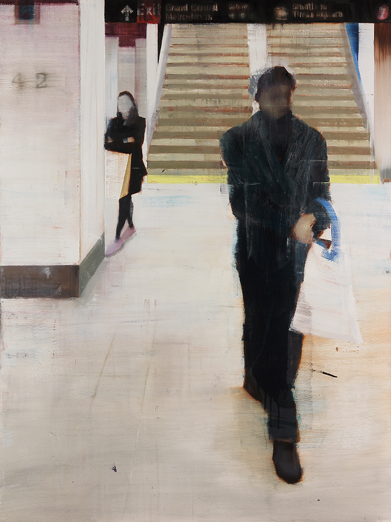 Grand Central Station 7-8pm (Waiting#177)  oil on canvas   36x48 inches  2013