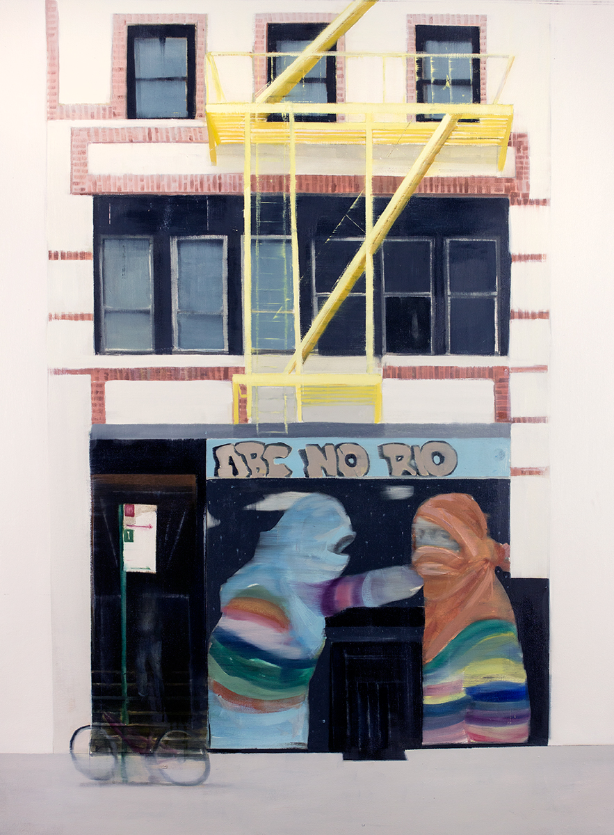 ABC No Rio (Waiting#250)  oil on canvas        48x60 inches    2015