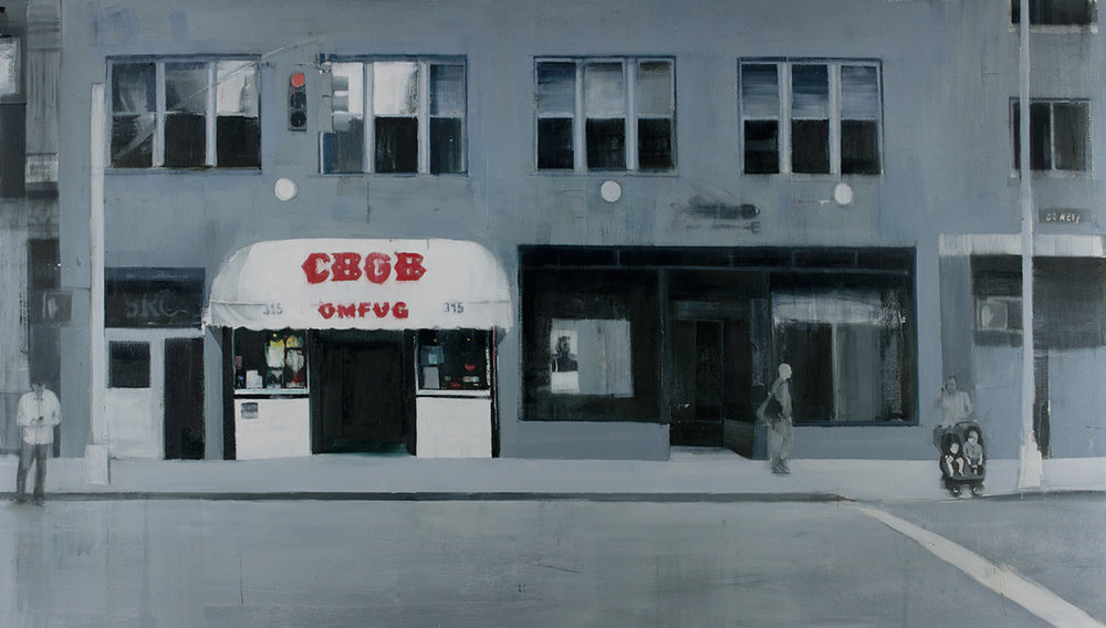 CBGB (Waiting#243)  oil on canvas 42x72 inches  2015