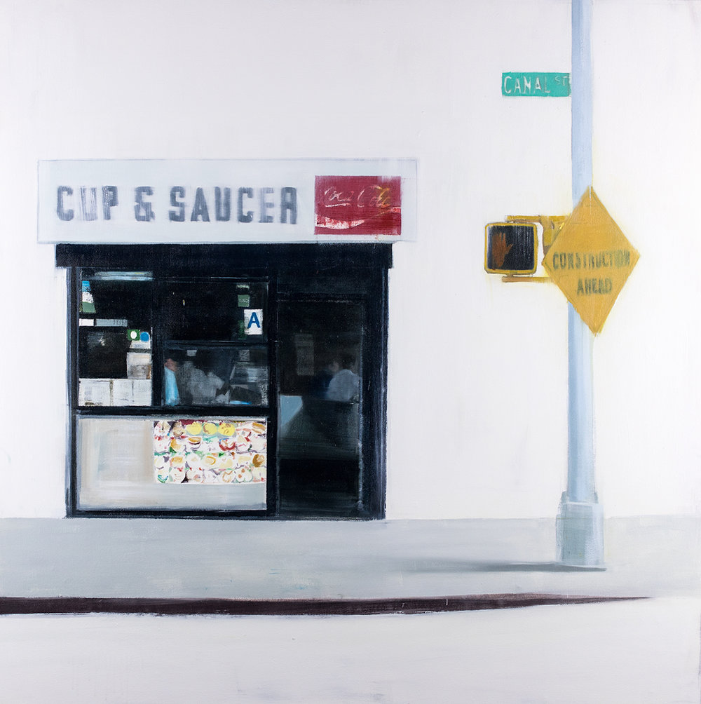 Cup & Saucer (Waiting#242)  oil on canvas        48x48 inches     2015