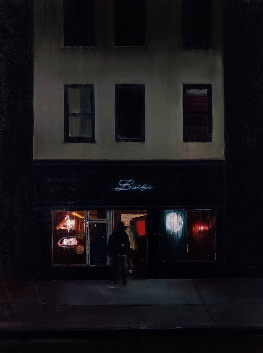 Lucy's (Waiting#255)           oil on canvas        48x60 inches     2015