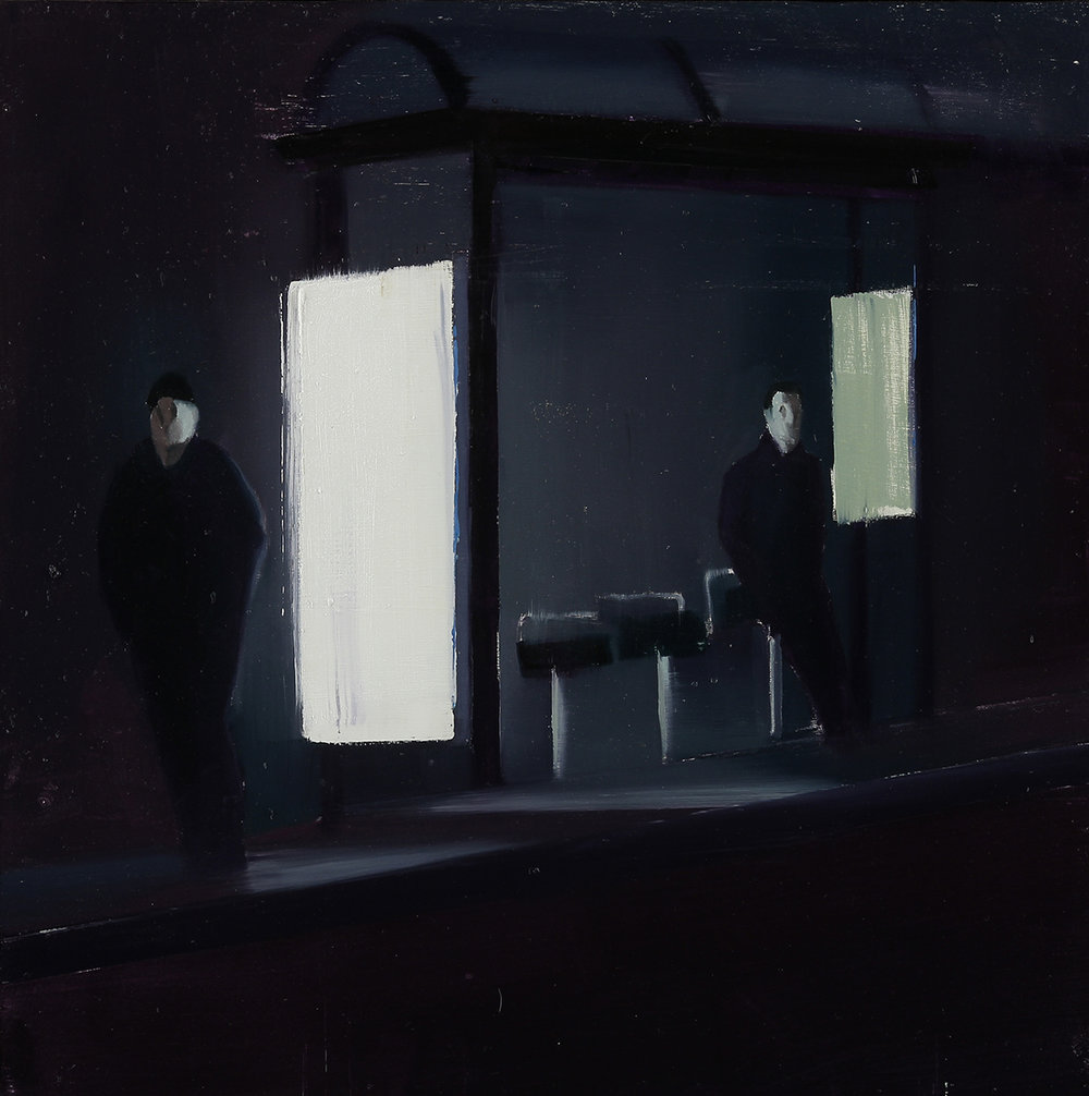 Waiting #235  oil on wood panel    2014  20x20 inches