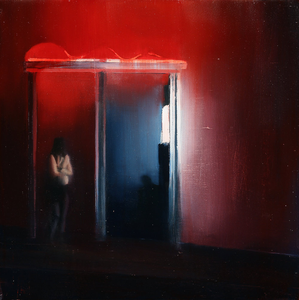 Waiting #236  oil on wood panel    2014  20x20 inches