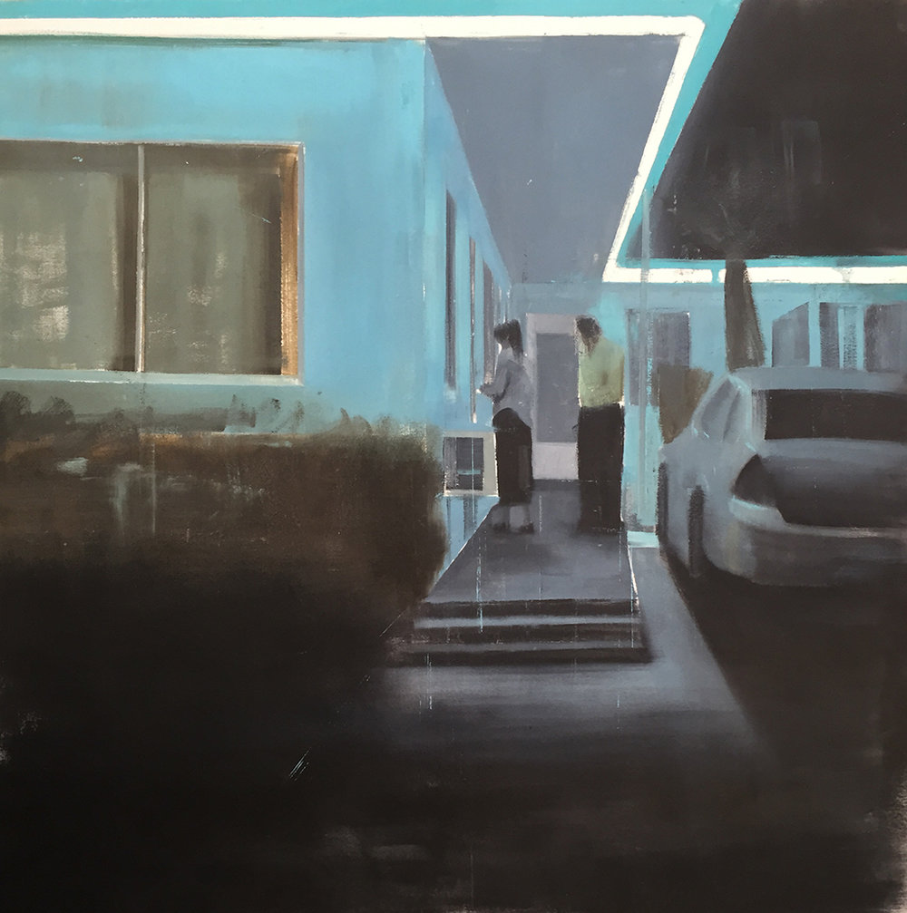 "Waiting #222         oil on canvas    2014        ""48x48"""