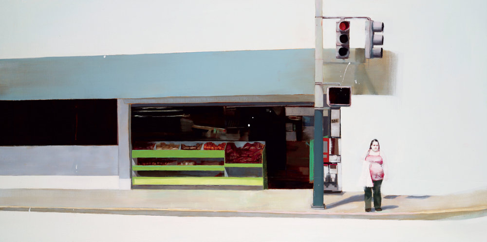"Waiting #54  oil on wood    2011  24""x48"""