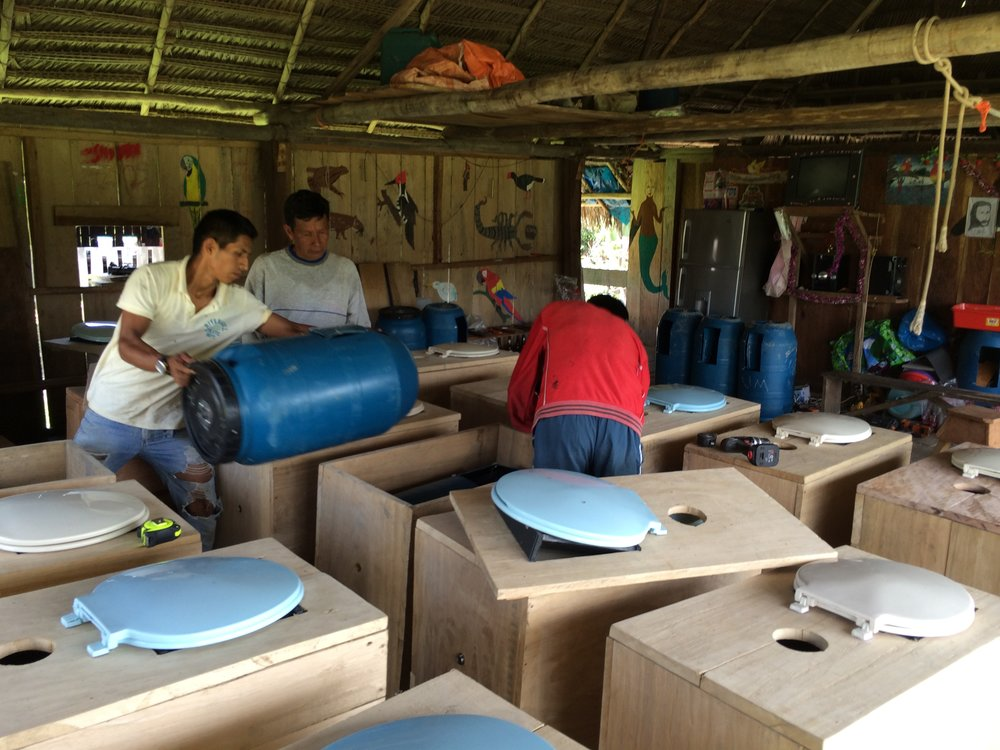 Jerusalen, Peru - In 2015 TFP, along with local craftsmen and our NGO partner Amazon Promise, installed of 17 composting toilets for 15 families and 2 for the village school.