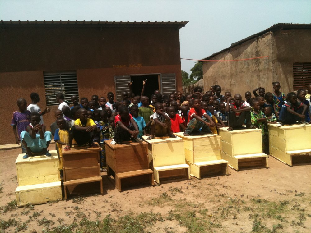 Tambacounda, Senegal - In 2014 TFP provided 1 squat version of our composting toilet to a local construction team and our NGO partner AFLK as part of the training. Based on this model, the construction team built 7 additional composting toilets which were installed in a local school.