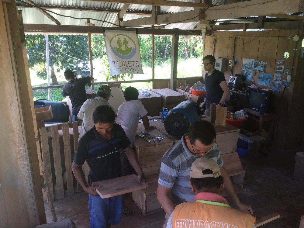 San Jose, Peru - In 2017 TFP, along with local craftsmen and our NGO partner Amazon Promise, installed of 12 composting toilets for 11 families and 1 for the village school.