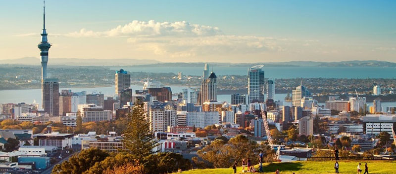 The view of Auckland City from Mount Eden.