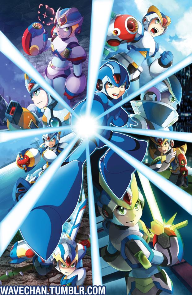 Mega Man X Armors Tribute