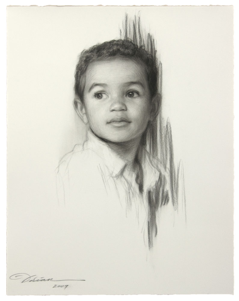 Charcoal Portrait Drawing - From Photo