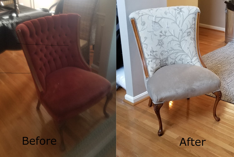 belgian linen chair reclamation upholstery